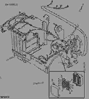 HEADLIGHT AND WIRING HARNESS (LVA801358) [01D16]  TRACTOR, COMPACT UTILITY John Deere 970