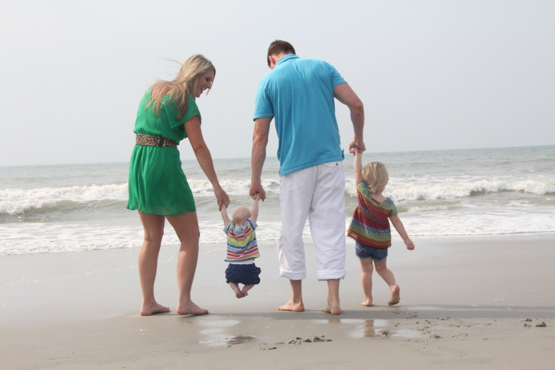Family beach portraits in the Myrtle Beach area