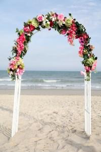 Myrtle beach Wedding arch