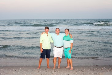 Pictures of brothers on the beach