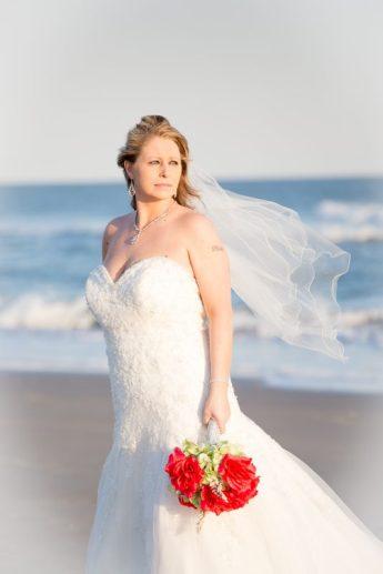 Beautiful bride portraits in OceanI sle Beach
