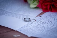The wedding ring picture with vows.
