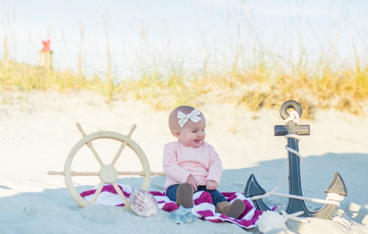 Typical beach props for family beach portraits