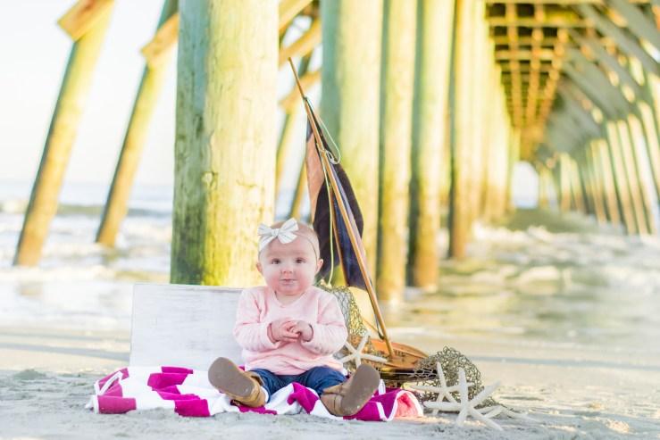 Baby under the Myrtle Beach pier