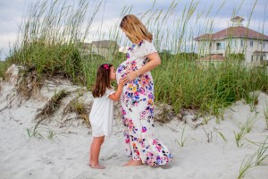 Mother and daughter maternity session