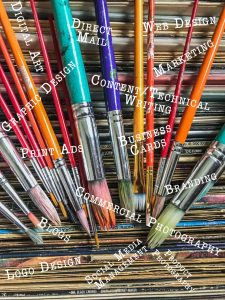 Photograph of art supplies.