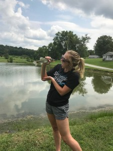 Jessica fishing photo.