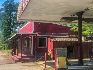 Way back in 2020. Closed red gas station.
