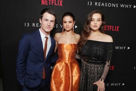 Dylan Minnette, Selena Gomez, Katherine Langford