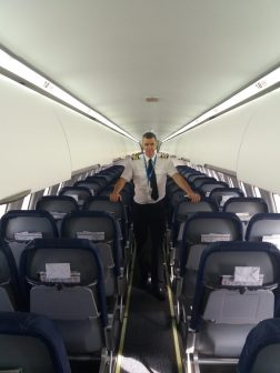 The passenger cabin.