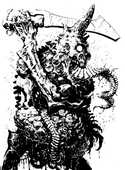 Plaguebearer of Nurgle by francesco-biagini on @deviantart