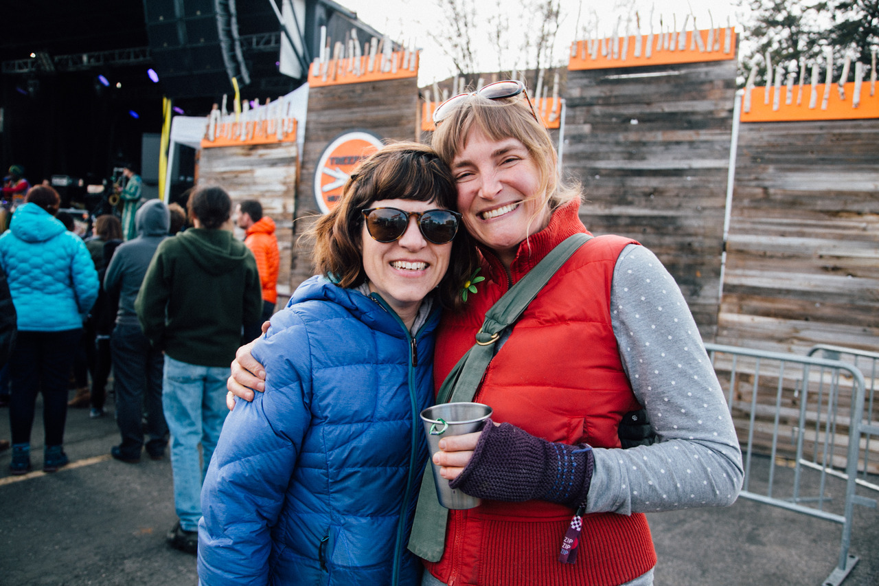 Radio Boise Friends at the main stage! Including Casey O'leary and Carrie Jones of Earthly Delights Farm and the Snake River Seed Cooperative and also a board member, . AS