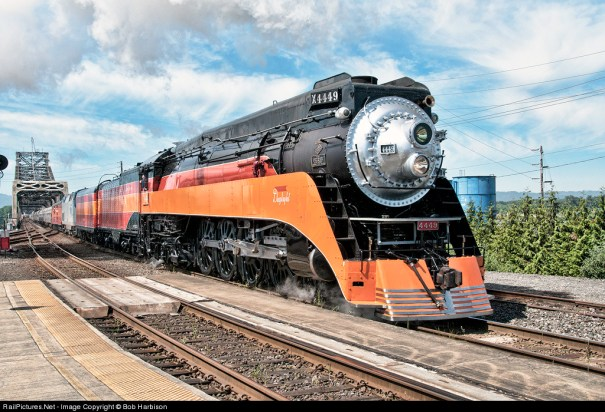 Image result for Southern Pacific 4449 from Galesburg, MI