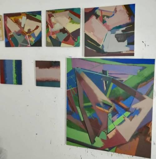 #studio #EggtemperaOil #stateoftheday #oiloncanvas #oilpainting #instaart #painting #grid #contemporaryart #peinture #fineart #berlinart #christophkern #malerei #contemporarypainting #modernpainting