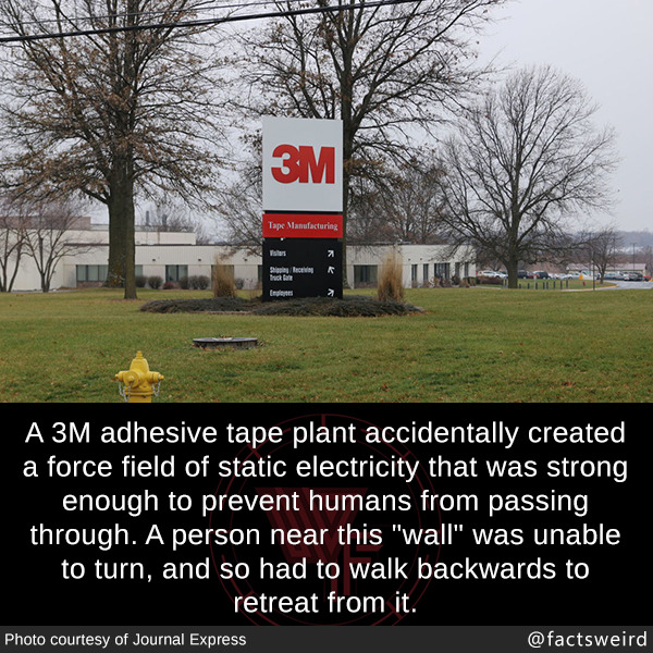 A 3M adhesive tape plant accidentally created a force field of