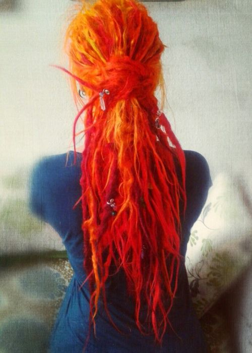 Red Ombre Hair On Tumblr