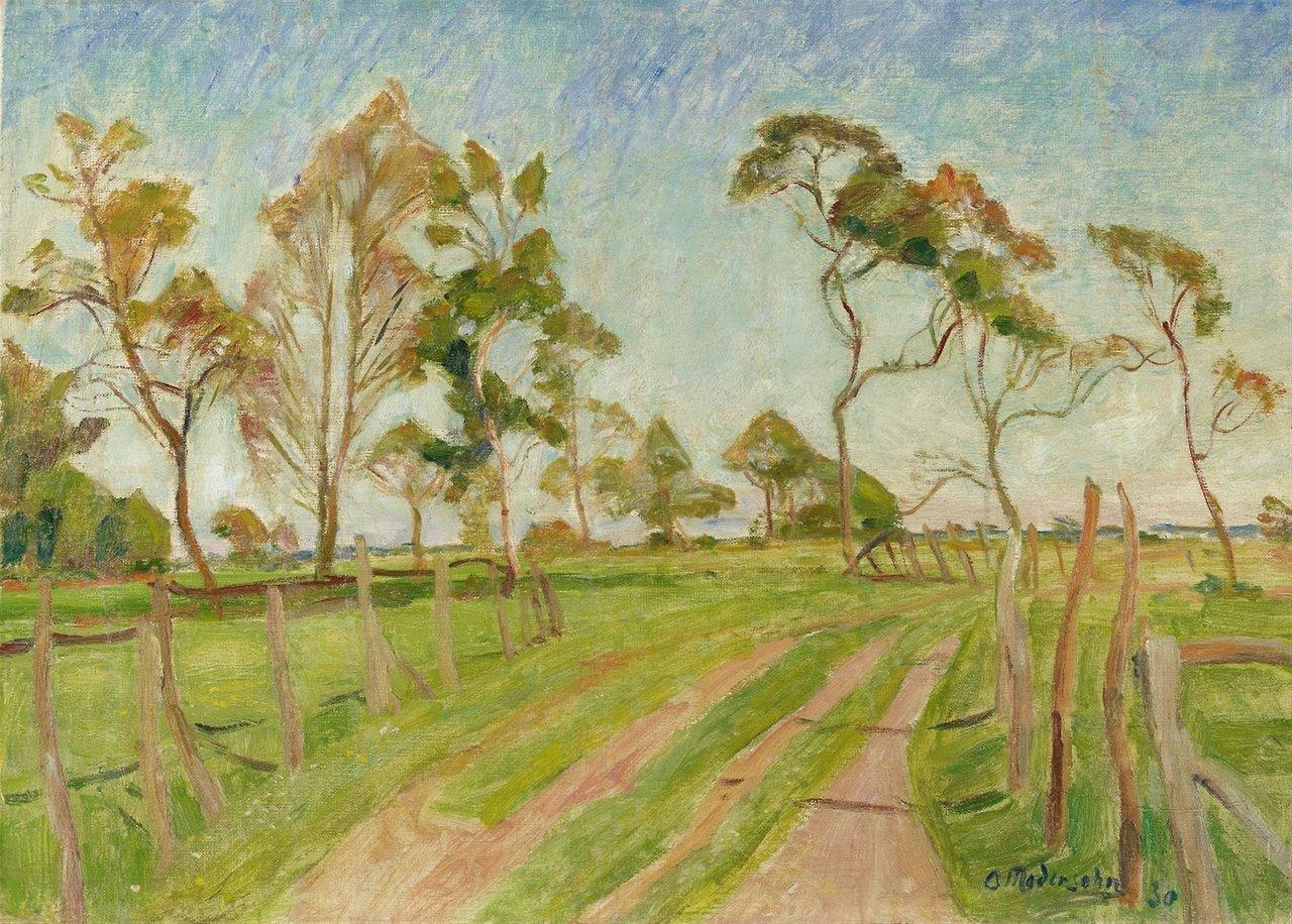"lawrenceleemagnuson: ""Otto Modersohn (Germany 1865-1943 Wiesenweg im Frühjahr - Meadow Path in the Spring (1930) oil on canvas 46 x 64 cm """