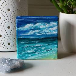 I'll be starting a series of little waves paintings and be doing a little give away, but for now this one is a birthday gift. Hopefully she'll like it! #artist #art #paintings #oceanart #perthcreatives #perthartist #illustration #artworks #perthstagram #doodle #sketch #popart #illustration #interiordesign #abstractart #abstractartist #waves #surfart