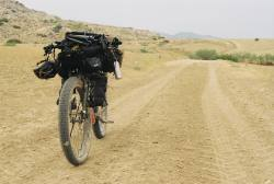 bicycle-touring-apocalypse:Following some dusty singletrack through the mountains. #bikepacking