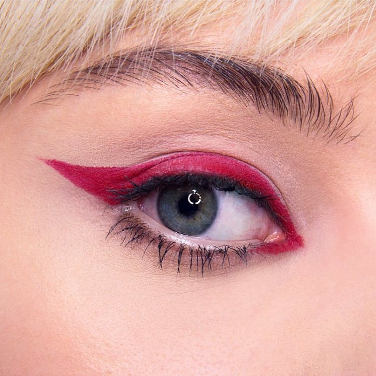 Image result for red eyeliner