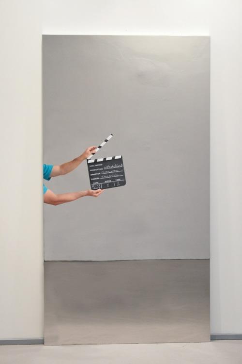 tumblr_o7sng3hGWo1qfc4xho1_500 contemporary-art-blog:  Michelangelo Pistoletto, Ciak Azzurro,... Contemporary