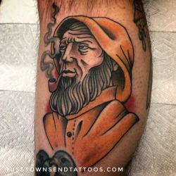 "Salty Gortons fisherman for Matt today. Thanks for braving the ""snow"" dude. Haha. Great seeing you as always. . @broadstreettattoo #broadstreettattoo #bridgewater #tattoos #traditionaltattoos #americanatattoos #radtrad #besttradtattoos #topclasstattooing #tattoosnob #tradworkers #masstattoonetwork #tradworkerssubmission #traditionalartist #russtownsend (at Broad Street Tattoo Parlour)"
