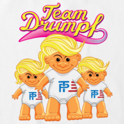 Dump Trump Romper: Short sleeve t-shirt romper for babies. 100% cotton , Brand: Rabbit Skins or check out other applications here: https://foozledtees.spreadshirt.com/dump-trump-C284543