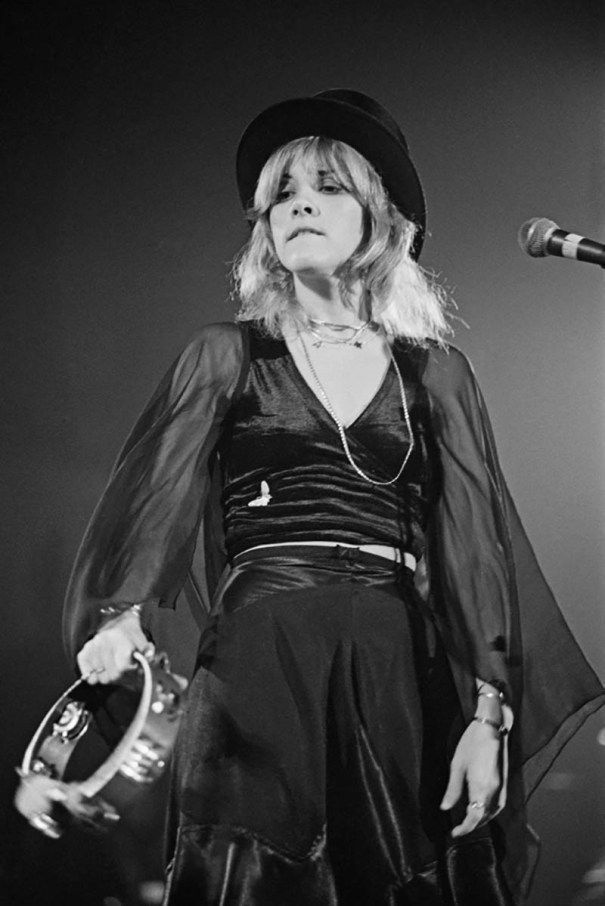 Stevie Nicks With Top Hat And Glambourine At Y Rock