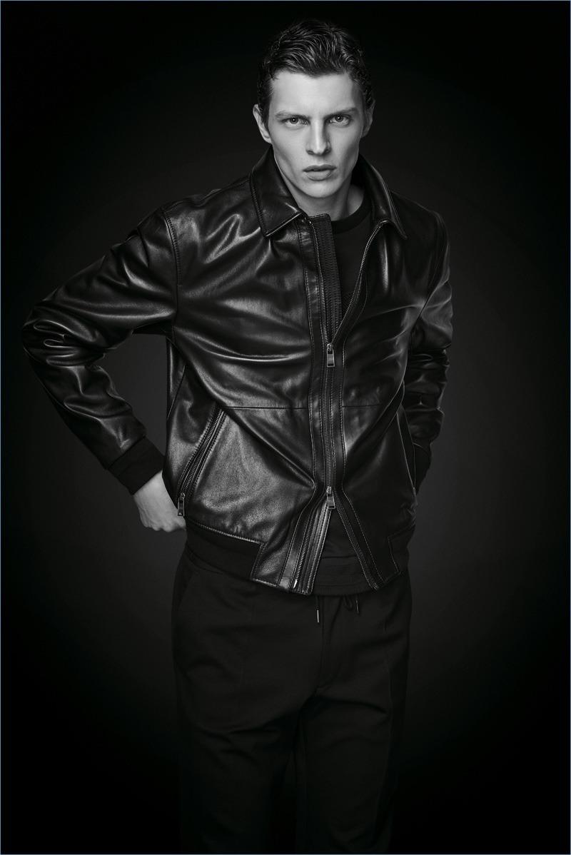Tim Schuhmacher in HUGO BOSS' Black Edition Leather