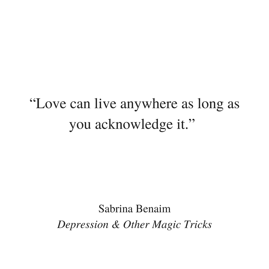 Sabrina benaim on getting over you for real get sabrinas poetry fandeluxe Gallery