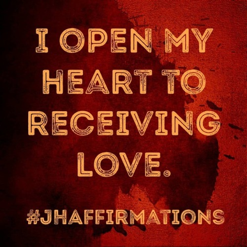 Many of us focus on giving rather than receiving. Open your heart to receive. #JHAffirmations #dailyaffirmationschallenge #selflovequotes #loveyourself #valentinesday #valentines #instalove