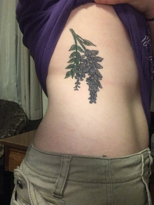 tumblr p252fkopWk1qzabkfo1 500 - Eric Gunter at Spirited Tattooing Coalition did this Wisteria...
