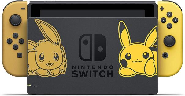 95f8e1fa3a0 The Pokemon Let s Go Eevee Pikachu Switch Bundle announced in the last  Nintenod Direct just went live on Amazon. It includes with the Switch  system