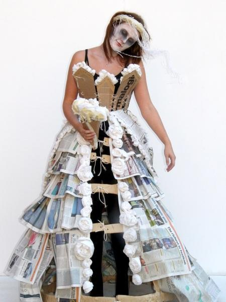 Recycling Fashion Cardboard Couture Art And