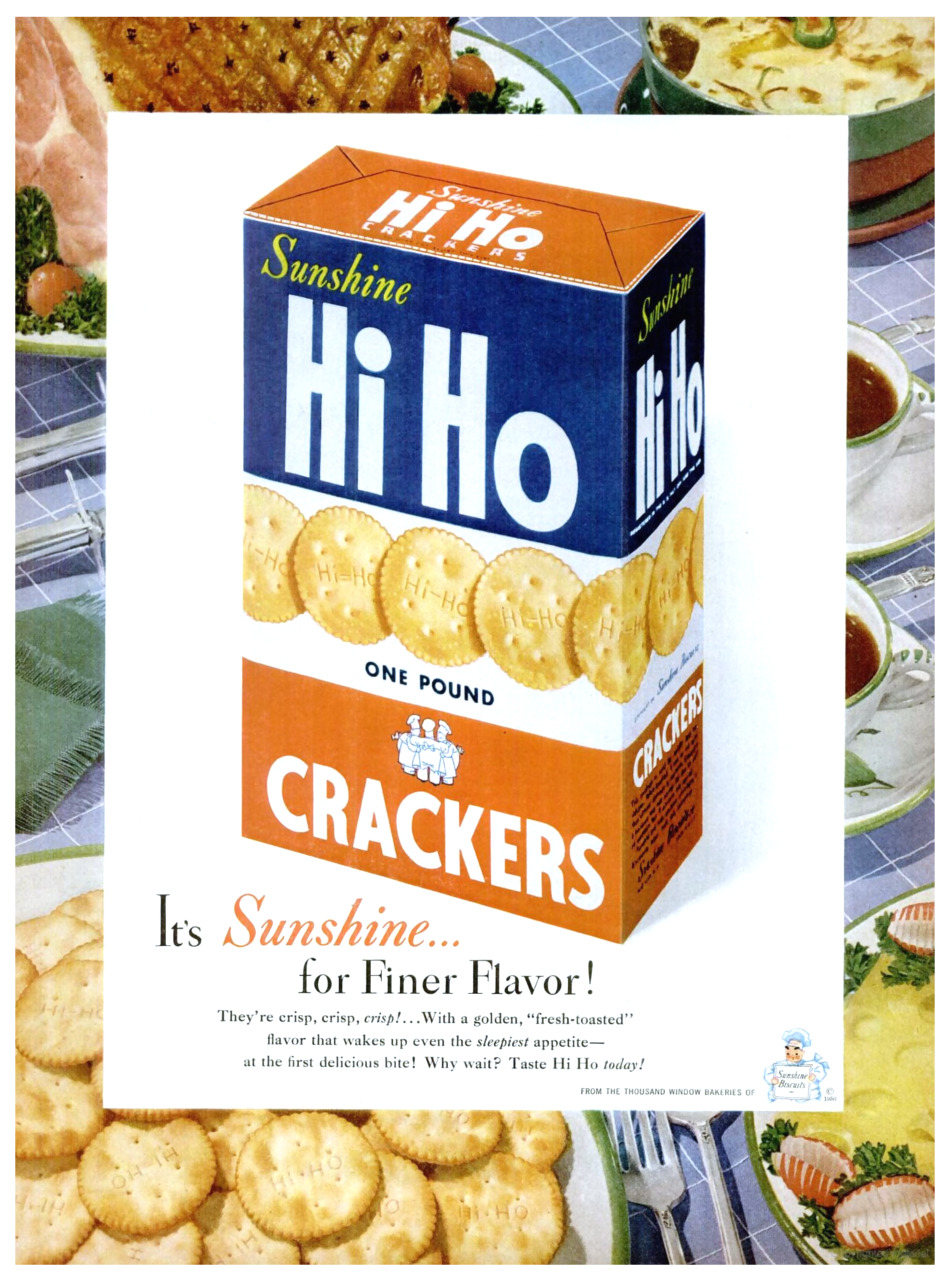 Sunshine Hi Ho Crackers - 1950