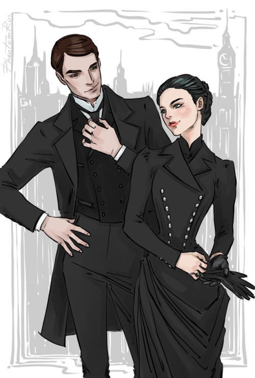"Partners in crime solving - Cresswell & Wadsworth:) (""Stalking Jack the Ripper"" by @kerrimaniscalco)"