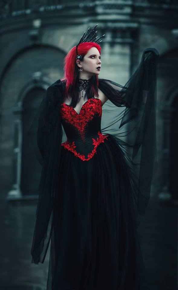 "gothicandamazing: "" Model Anastasia Shae Photographer Oksana Terlyuk. Creativity & Art. Dress: Alisa Perova Welcome to Gothic and Amazing 