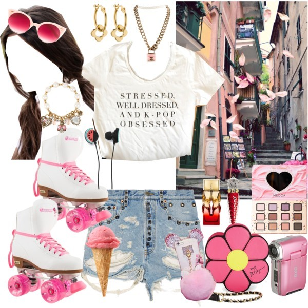 Tourist on wheels by lucilxlu featuring Forever 21