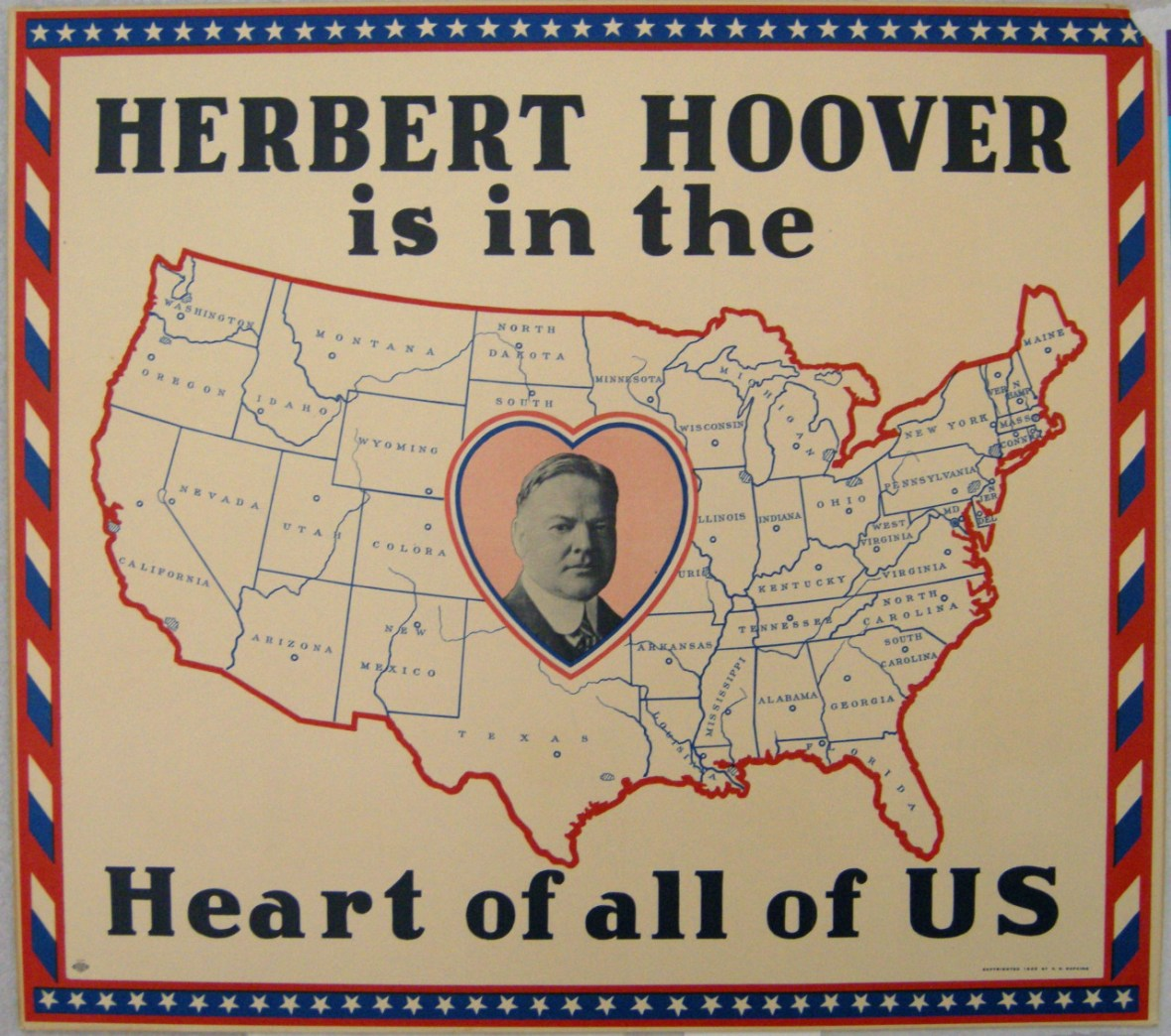 Herbert Hoover campaign poster - 1928