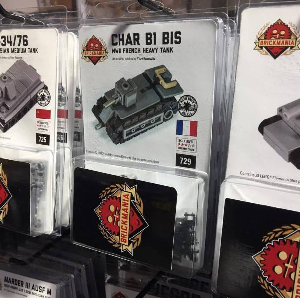 Char B1 bis – Micro Brick Battle kit is just now restocked! Vive… – Lego