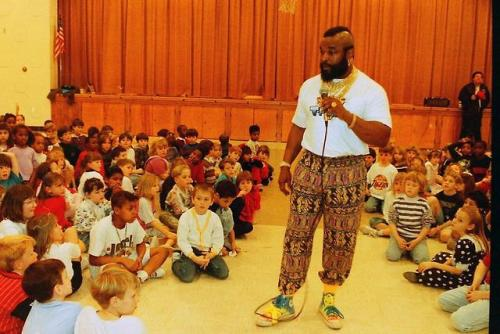 Mr. T telling fools to stay in school. 1984 Check this blog!