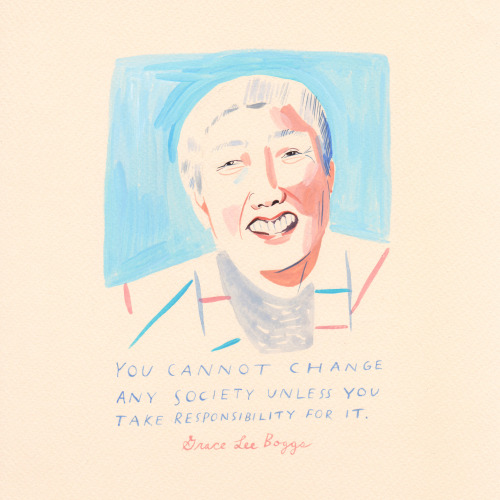 """Smile! It's national voter registration day, and here's a friendly reminder that we have an important job to do. The late Grace Lee Boggs–feminist, social activist, writer, community leader, and all-around inspiring woman– said """"You can't change..."""