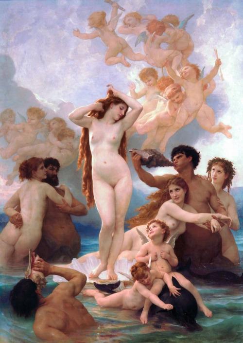 art-is-art-is-art:The Birth of Venus, William-Adolphe Bouguereau