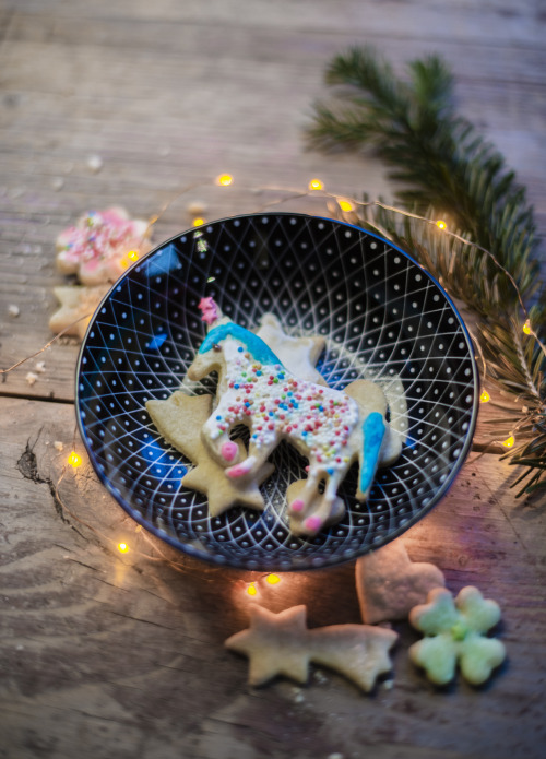 christmas unicorn cookie