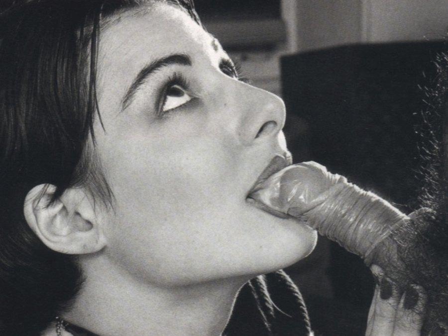 Chloe des Lysses vintage: condom blowjob aftermath