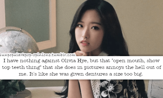 I have nothing against Olivia Hye, but that op… – KPop Fan