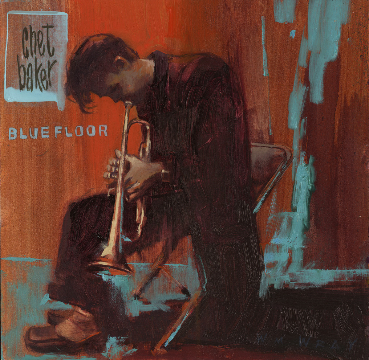 """huariqueje: """" Chet Baker - William Wray American,b.1956- Oil on canvas, 12 x 12 in. """""""