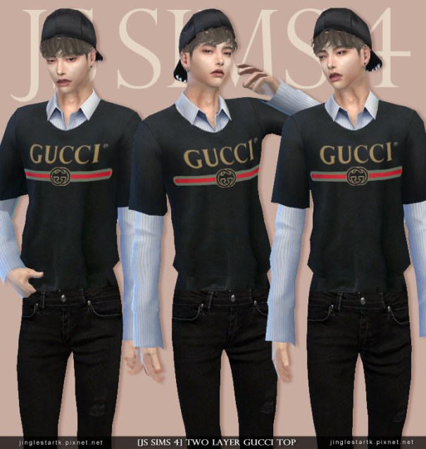 Jinglestartk Js Sims 4 Two Layer Gucci Top Cities