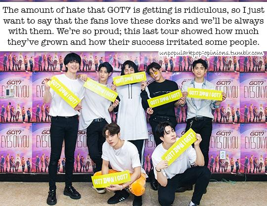 The amount of hate that GOT7 is getting is rid… – KPop Fan