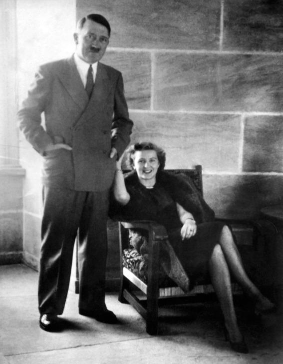 Adolf Hitler and Eva Braun circa 1940.